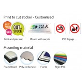 Trans Acrylic + Sticker