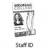 Staff ID Card Printing with Individual Data B&W